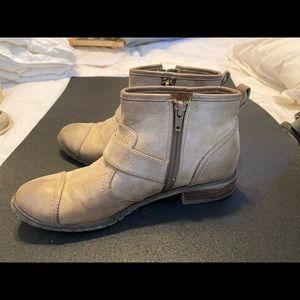 Tan booties (size 8)